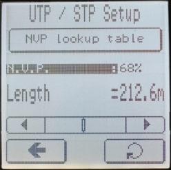 Определение коэффициента NVP для кабеля известной длины