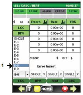 При необходимости можно вводить битовые ошибки с постоянным коэффициентом