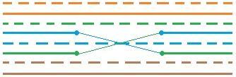 Определение перепутанных жил 4-6 2-й и 3-й пары UTP кабеля (MISWIRE)